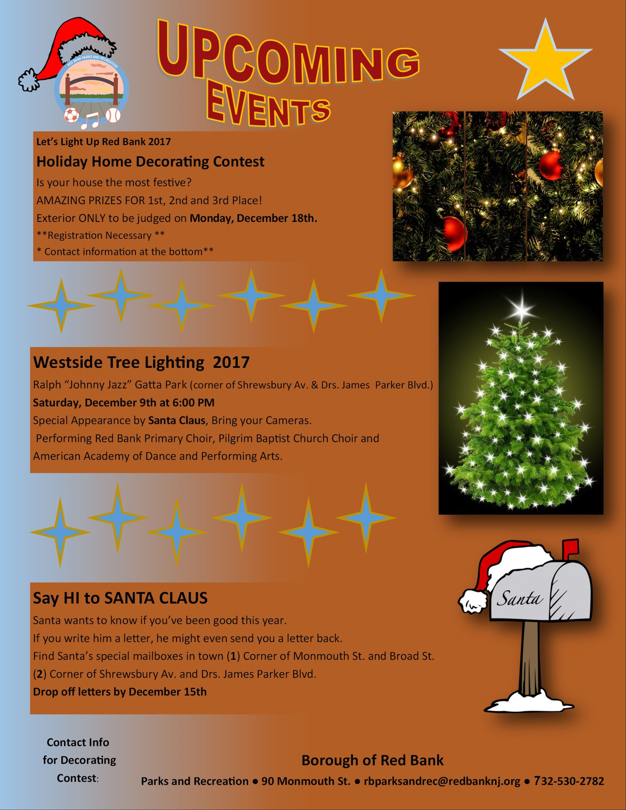Holiday Events Flyer English