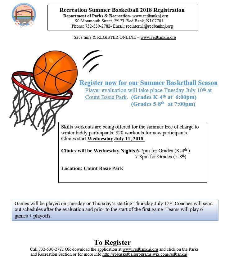 2018 flyer Summer Basketball